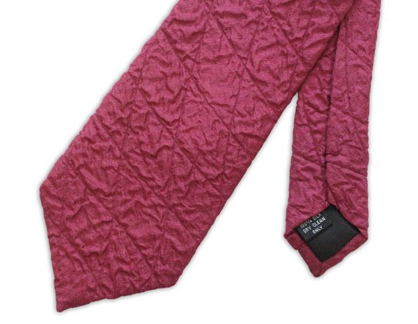 Burgundy Quilted Tie-0