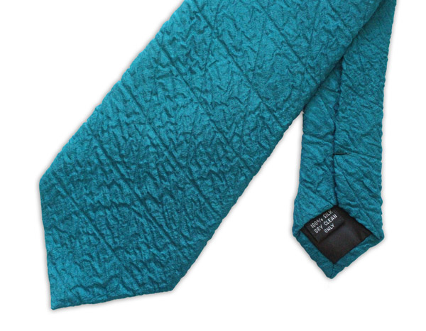 Teal Quilted Tie