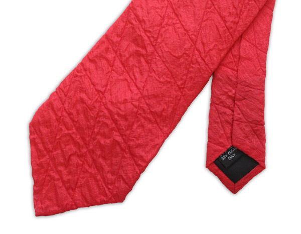 Red Quilted Tie-0
