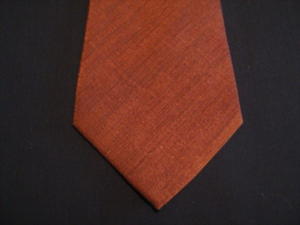 Orange XL Woven Poly Tie-0