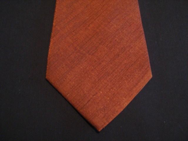 Orange XL Woven Poly Tie