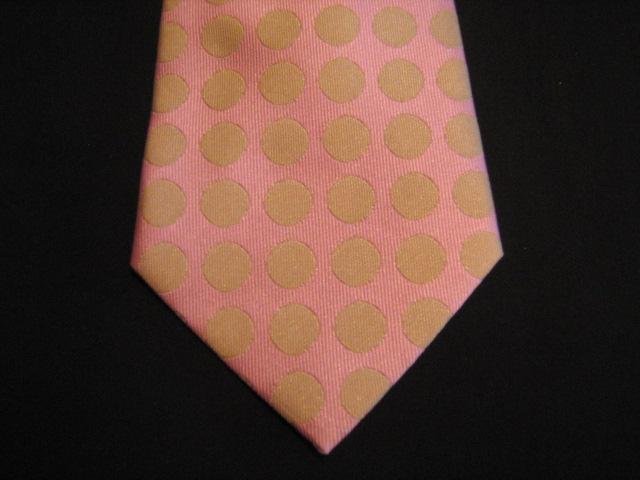 Peach/Orange circles XL Woven Poly Tie