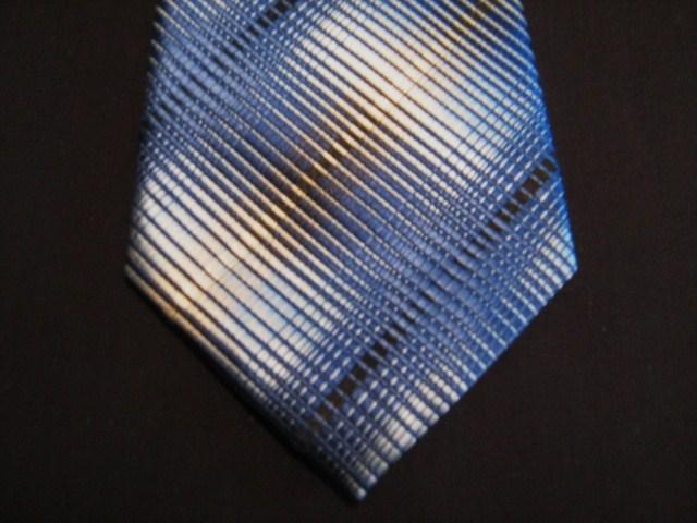 Blue/Cream/Black XL Woven Poly Tie