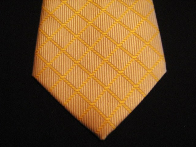 Orange Patterned XL Woven Poly Tie