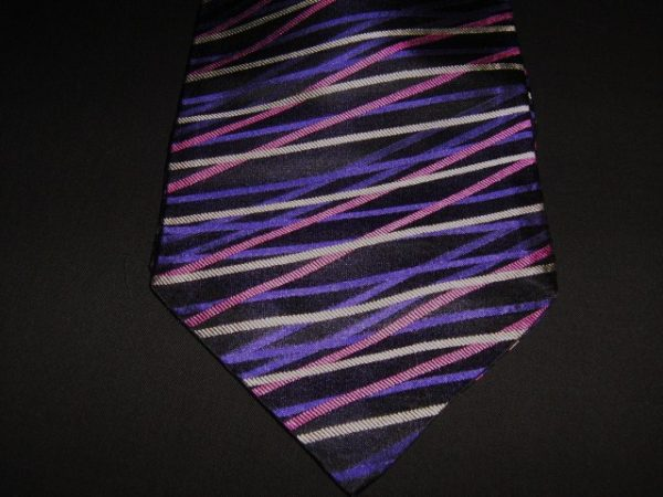 Black and purple silk cravat-0