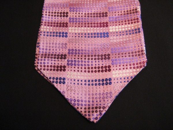 Pink Patterned Silk Self-tie Cravat-0