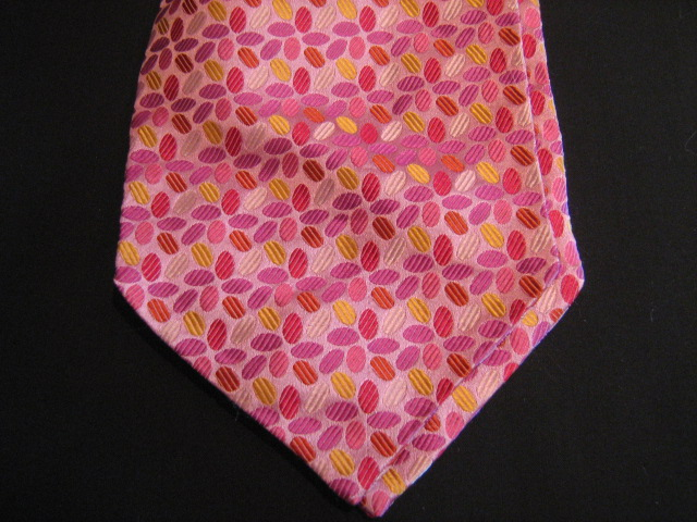 Orange silk silk cravat