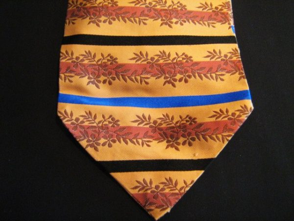 Orange floral silk cravat-0