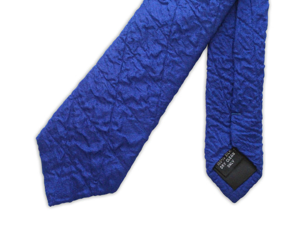 Royal Blue Skinny Quilted Tie-0