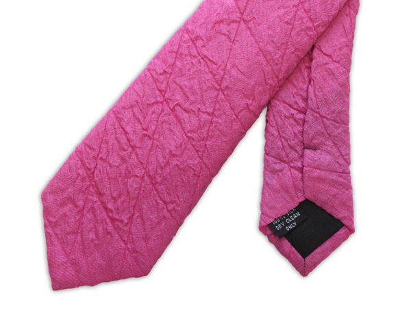 Fuchsia Skinny Quilted Tie-0