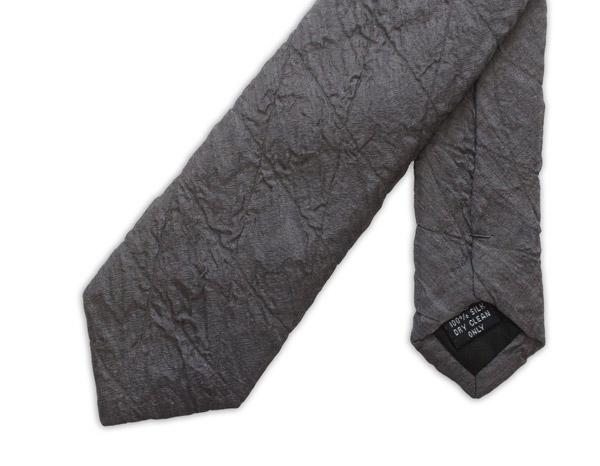 Dark Grey Skinny Quilted Tie-0