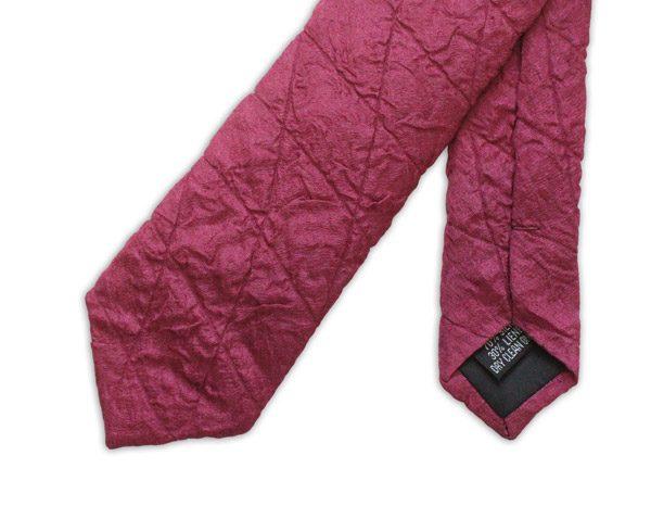Burgundy Skinny Quilted Tie-0