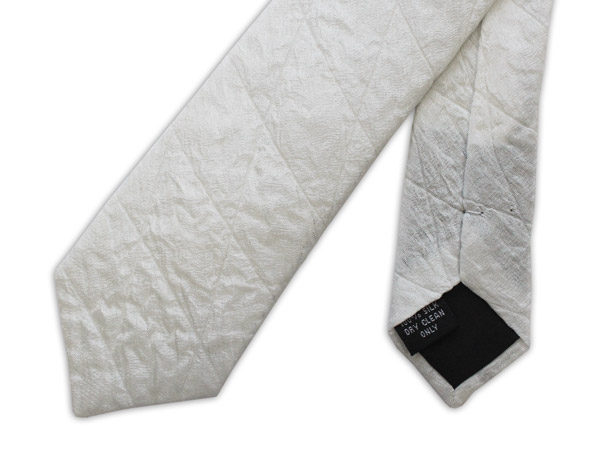 White Skinny Quilted Tie-0