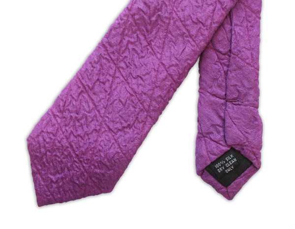Magenta Skinny Quilted Tie