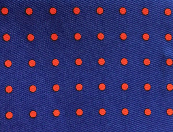 Blue/red Spotted Silk Aviator Scarf-0