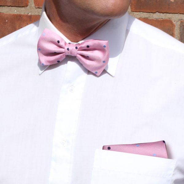 Pink/blue Dotted Pocket Squares-0
