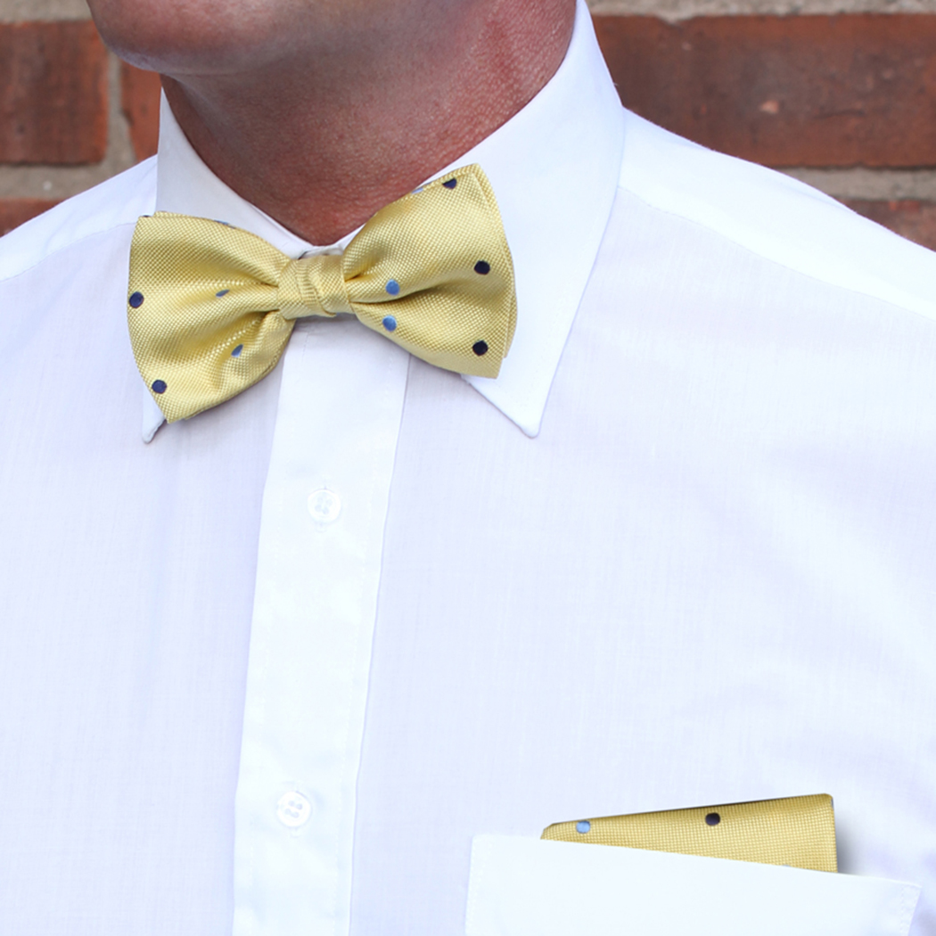 Yellow/Blue Dotted Pocket Squares