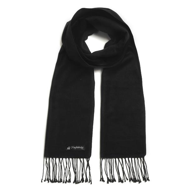 Black Knightsbridge Brushed Silk Scarf