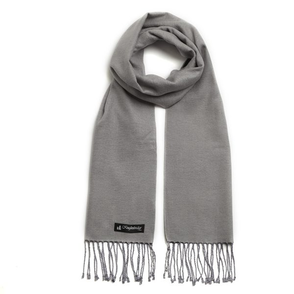 Grey Knightsbridge Brushed Silk Scarf-0