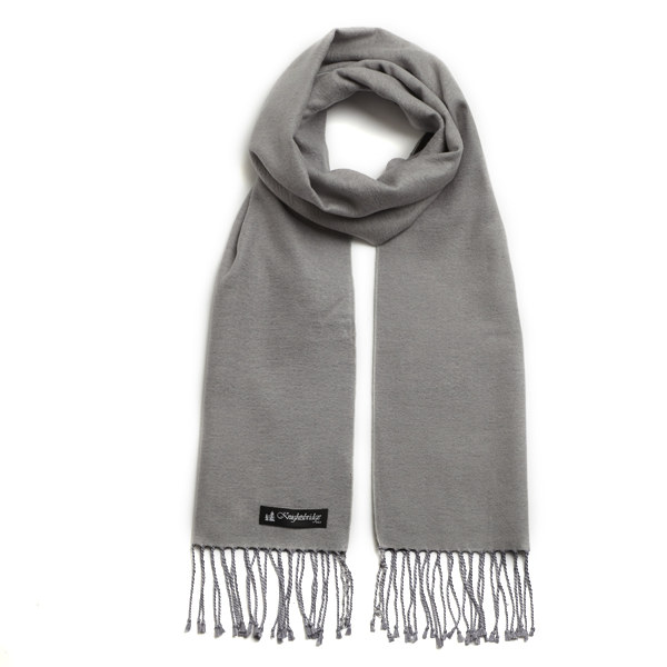 Grey Knightsbridge Brushed Silk Scarf