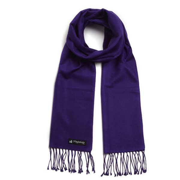 Purple Knightsbridge Brushed Silk Scarf-0