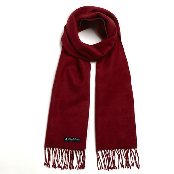 Red Knightsbridge Brushed Silk Scarf-0
