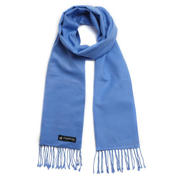 LIGHT BLUE BRUSHED SILK SCARF-0
