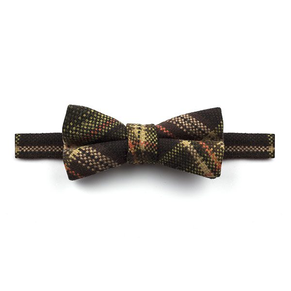 Brown/Beige/Orange Tweed Bow Tie-0