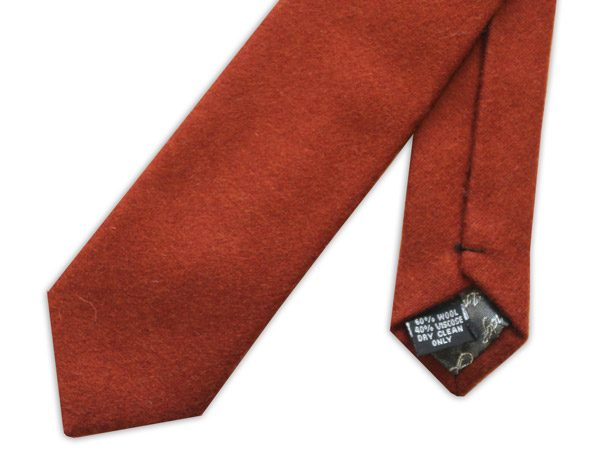 Burnt Orange Wool Tie-0