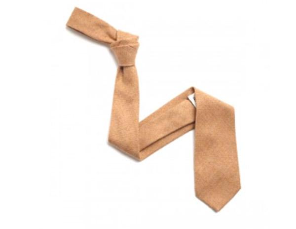 plain Peach Wool Tie-0