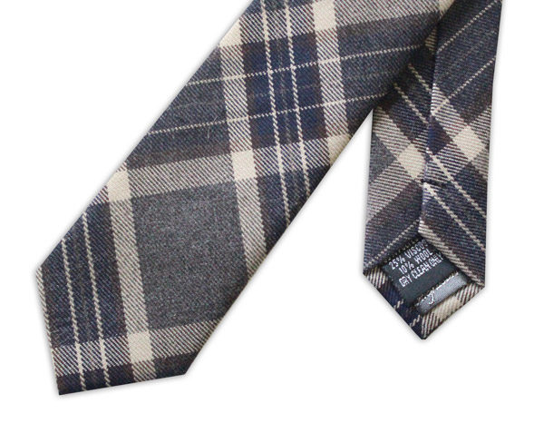 GREY/BEIGE TWEED TIE-0