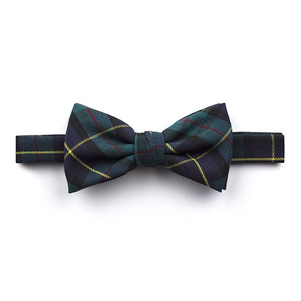 Blue/Yellow Madras Check Bow Tie-0