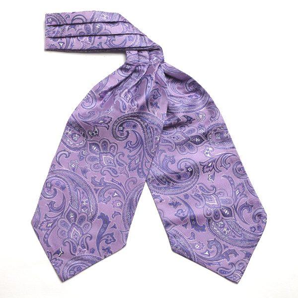 purple Paisley Silk Cravat-0