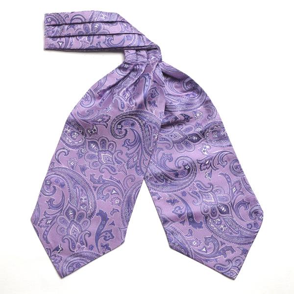 purple Paisley Silk Cravat