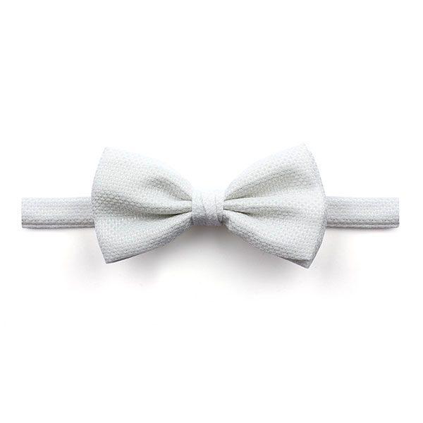 Plain White Marcella Bow tie-0