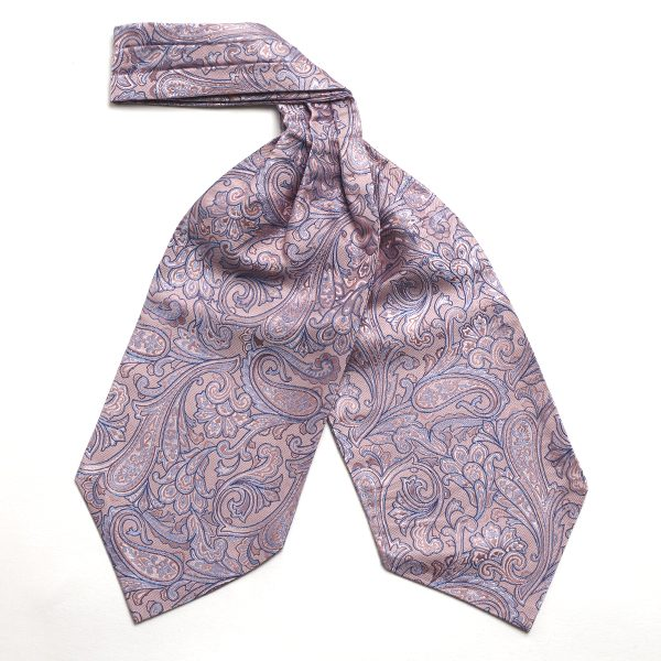 Pink Paisley Silk Cravat-0