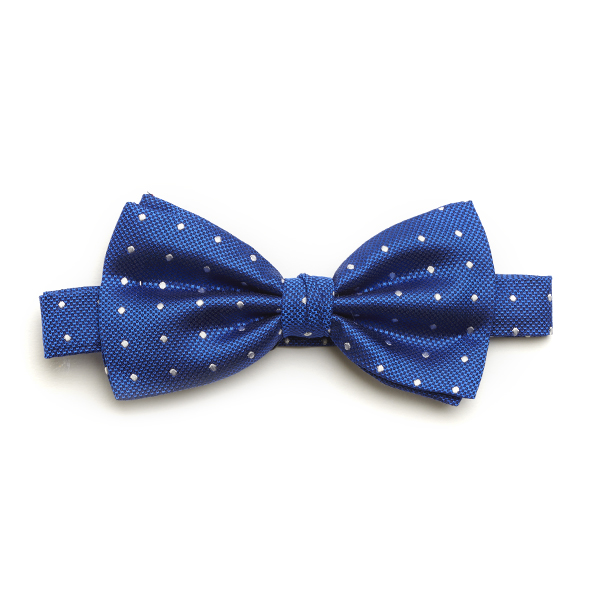 Royal blue/white Spotted Silk Bow Tie