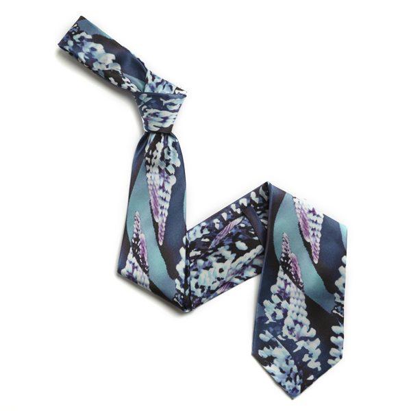 Blue/Aqua Abstract Sorrento Silk Tie-0