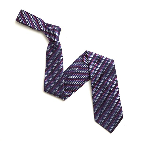 PINK/LILAC AND PURPLE SMALL DOTS SILK TIE-0