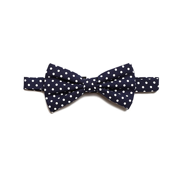 NAVY/WHITE POLKA DOTS BOW TIE-0