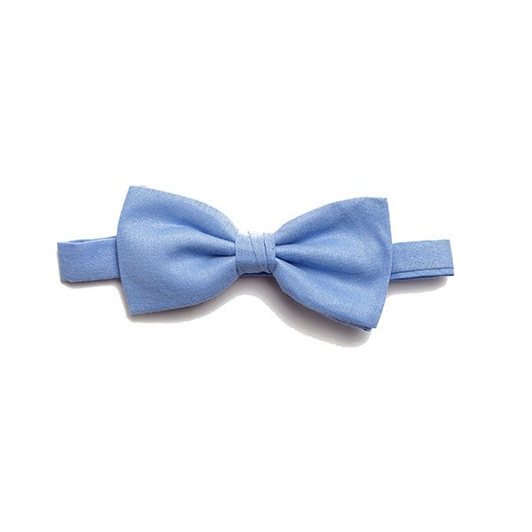 Plain SKY BLUE BOW TIE-0