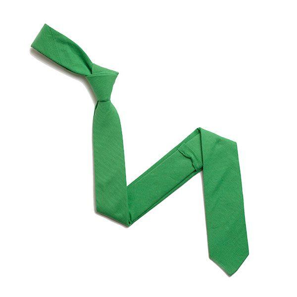 GREEN SKINNY TIE-0