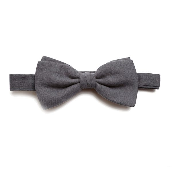 DARK GREY BOW TIE-0