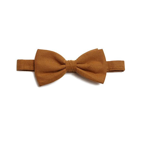 PLAIN GOLD BOW TIE-0