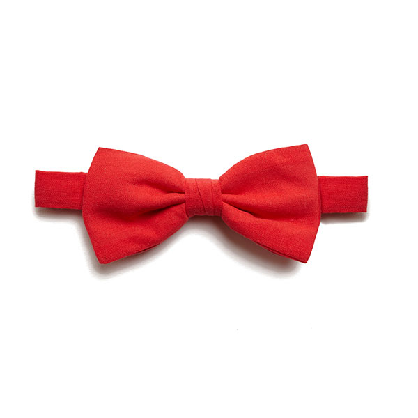 plain cotton BOW TIE-0
