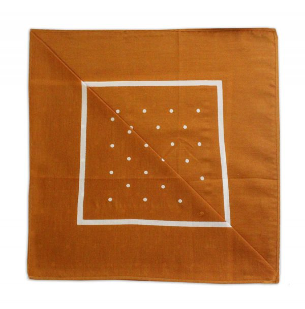 caramel/WHITE POLKA DOTS NECKERCHIEF-0