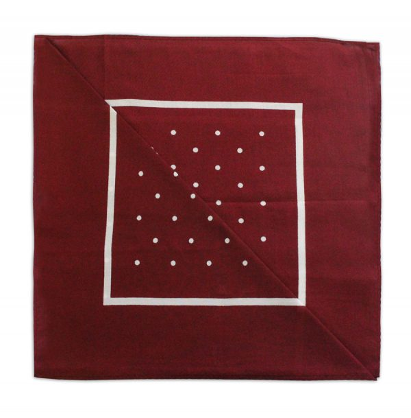 BURGUNDY/WHITE POLKA DOTS NECKERCHIEF-0