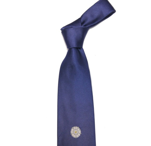 YORKSHIRE TIE WITH A WHITE ROSE -0