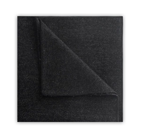 Dark grey TWEED POCKET SQUARE-0