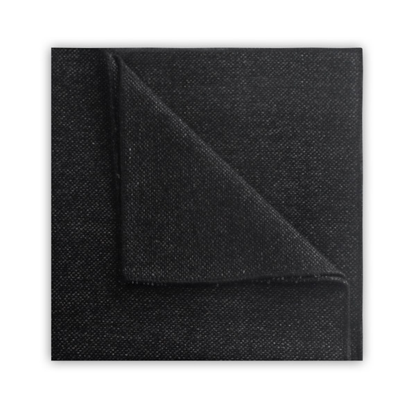 Dark grey TWEED POCKET SQUARE